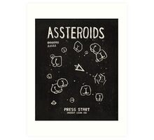 Assteroids - Retro Gaming Parody Art Print