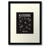 Assteroids - Retro Gaming Parody Framed Print