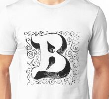 Block Alphabet Letter B Unisex T-Shirt