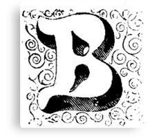 Block Alphabet Letter B Canvas Print