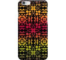 Batik Rainbow 200 - Black iPhone Case/Skin