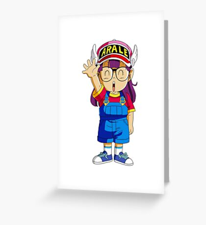 dr slump arale Greeting Card