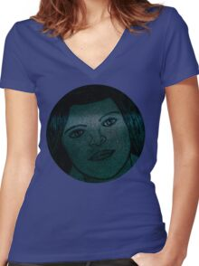 Dream Girl Women's Fitted V-Neck T-Shirt