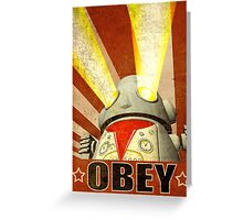 OBEY Version 2 Greeting Card