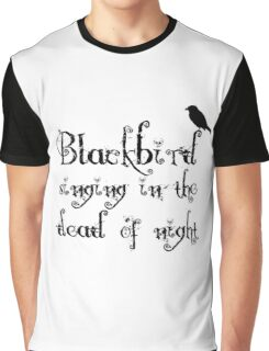 The Beatles Song Blackbird Lyrics Lennon McCartney Graphic T-Shirt