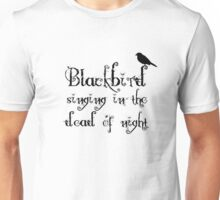 The Beatles Song Blackbird Lyrics Lennon McCartney Unisex T-Shirt