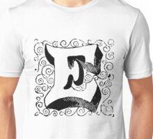 Block Alphabet Letter E Unisex T-Shirt