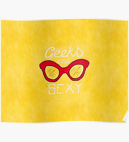 Geeks are Sexy - Vintage Glasses Poster