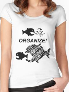 Organize! Citizens Unite! Activists Unite! Laborers Unite! .  Women's Fitted Scoop T-Shirt