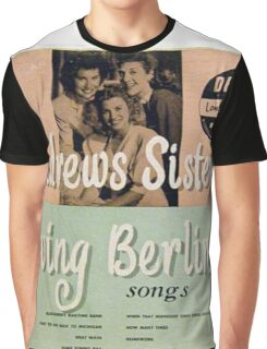"Andrews Sisters sing Irving Berlin 10"" lp Cover Graphic T-Shirt"