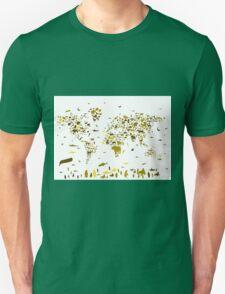 world map animals 2 Unisex T-Shirt