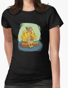 Funny Turkey Womens Fitted T-Shirt