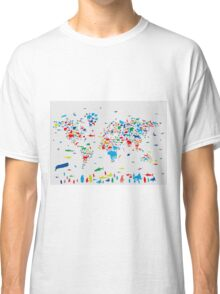 world map animals 3 Classic T-Shirt
