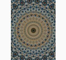 Mandala in coffee and blue tones Unisex T-Shirt