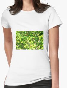 Crab apple tree Womens Fitted T-Shirt