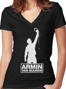 Armin van Buuren Funny Women's Fitted V-Neck T-Shirt