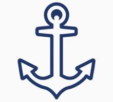 Blue anchor logo by Designzz