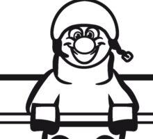 Winter Urlaub snowboard  Sticker