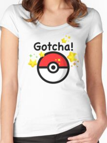Pokemon go - Gotcha - pokeball Women's Fitted Scoop T-Shirt