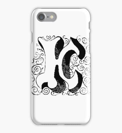 Block Alphabet Letter K iPhone Case/Skin