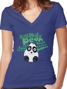 Pandapear Women's Fitted V-Neck T-Shirt