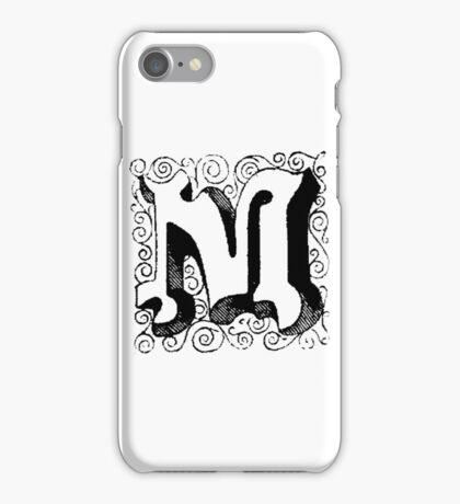 Block Alphabet Letter M iPhone Case/Skin