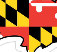 Raven with Maryland Flag Sticker