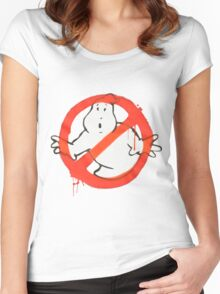 Ghostbusters Logo Women's Fitted Scoop T-Shirt