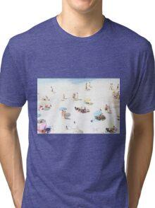Beach - happy days Tri-blend T-Shirt