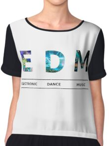EDM Acronym With Live Set Letters Chiffon Top