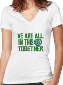 Planet Earth Nature Quotes Beautiful Inspirational  Women's Fitted V-Neck T-Shirt