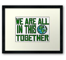 Planet Earth Nature Quotes Beautiful Inspirational  Framed Print