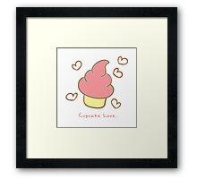 Cupcake love. Framed Print