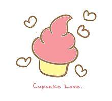 Cupcake love. Photographic Print