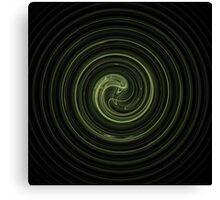 Fractal 31 green spiral Canvas Print