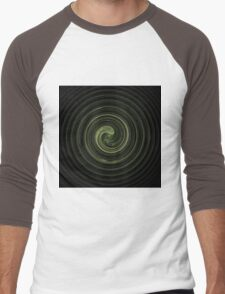 Fractal 31 green spiral Men's Baseball ¾ T-Shirt