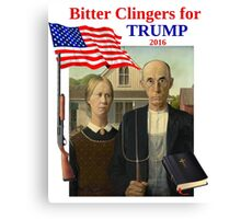 Bitter Clingers for Trump Canvas Print