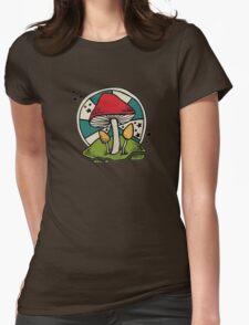 Mushroom Womens Fitted T-Shirt