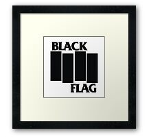 Black Flag Shirt Framed Print
