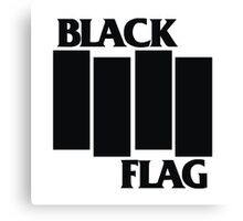 Black Flag Shirt Canvas Print
