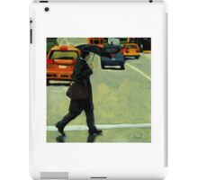 Rainy Day Business - Figurative City Oil Painting iPad Case/Skin