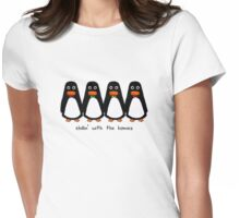 Penguins Wearing Bow Ties Womens Fitted T-Shirt