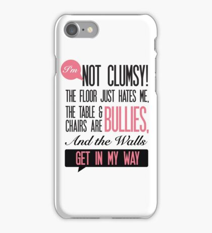 Clumsy office humour Print iPhone Case/Skin