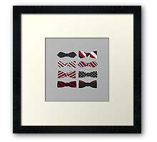 heart eyes and bow ties Framed Print