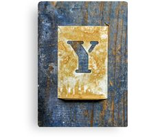 Letter Y Canvas Print
