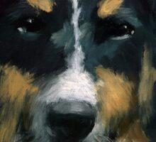 Ozzie - dog portrait Sticker