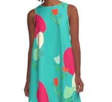 tulips in retromood 2 A-Line Dress