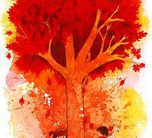 Around the Autumn Tree by Whitney Mattila