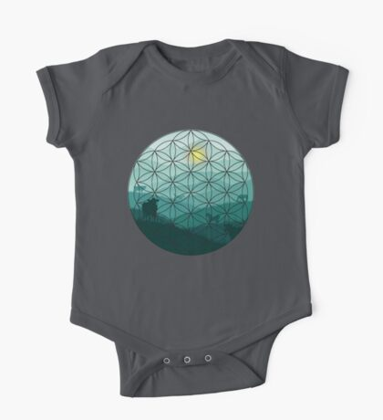 Flower Of Life Landscape One Piece - Short Sleeve