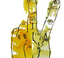 Two Fingers Print by RobinLeverton